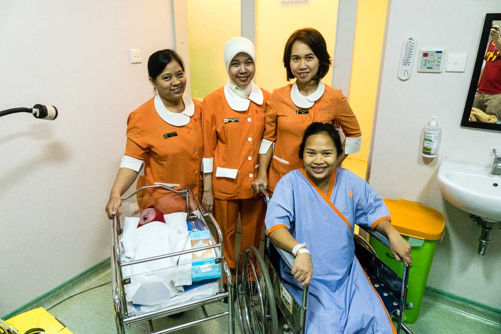 The midwife team at RSIA Kemang