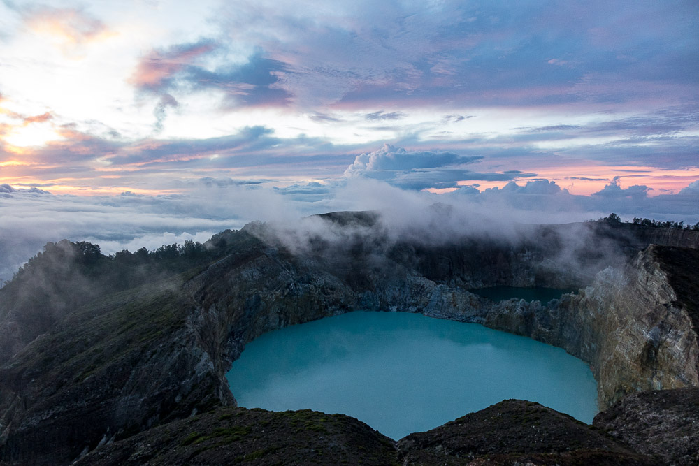 Blue lake of Kelimutu