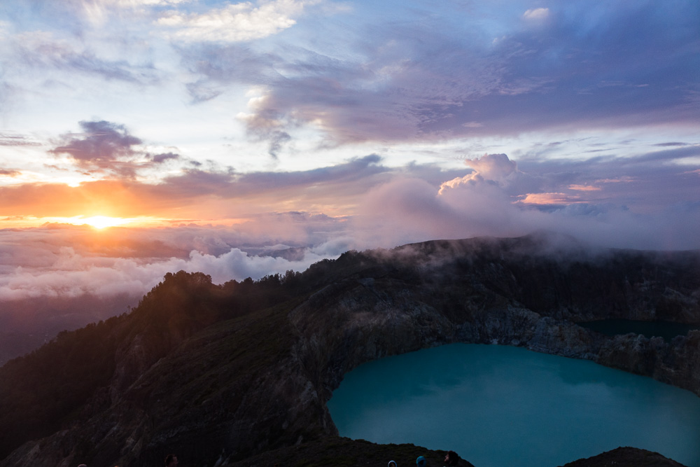 Sunrise over Kelimutu