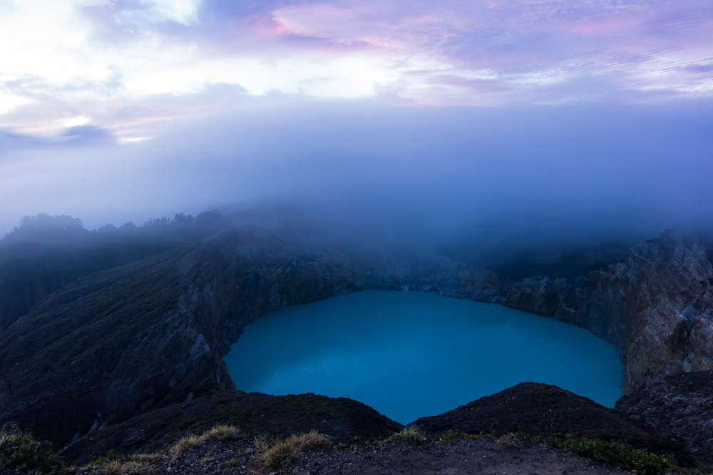 Clouds over Kelimutu