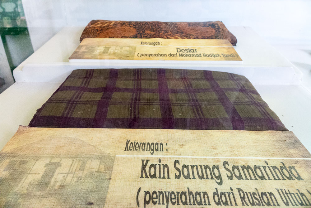 Soekarno's sarung and cloth