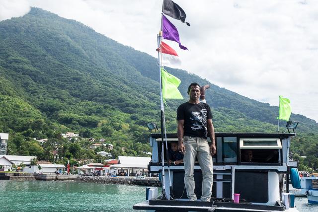 Boat master on his tuna boat