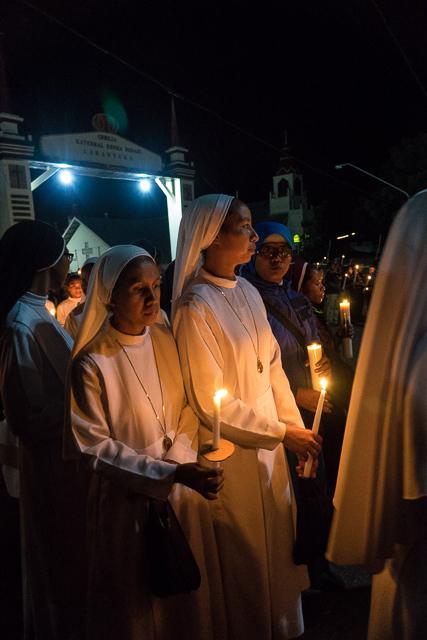 Nuns on the Semana Santa procession
