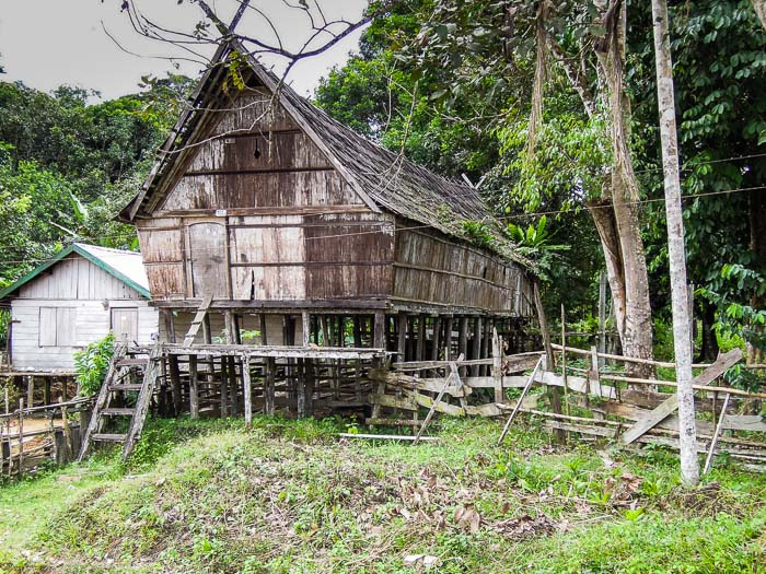 Dayak stilt house
