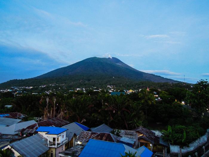 Volcano in Ternate