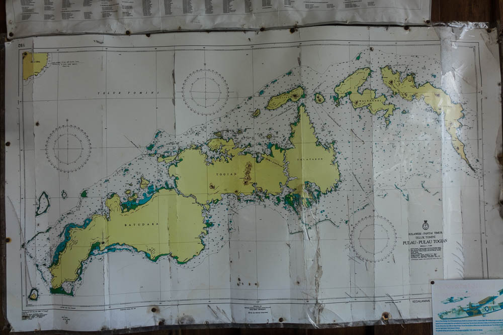 Togean sea chart