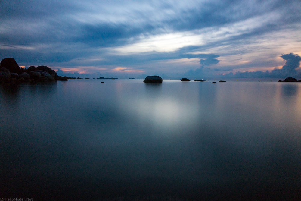 Sunset at Tanjung Tinggi - Belitung - Belitung has amazing beaches and interesting history