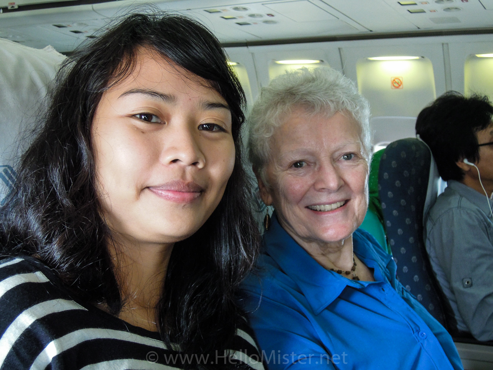 On the plane to Kalimantan - see orangutan and meet dayak people in kalimantan
