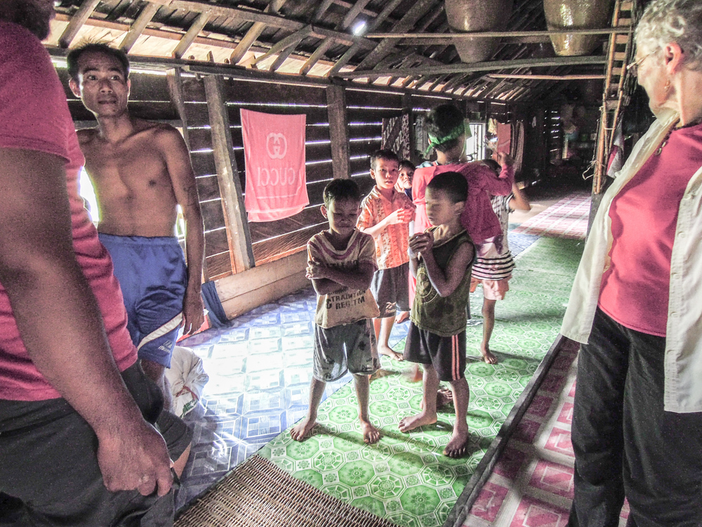 Inside a longhouse - see orangutan and meet dayak people in kalimantan