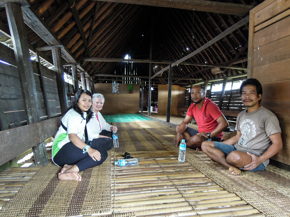 Meeting our longhouse host - see orangutan and meet dayak people in kalimantan