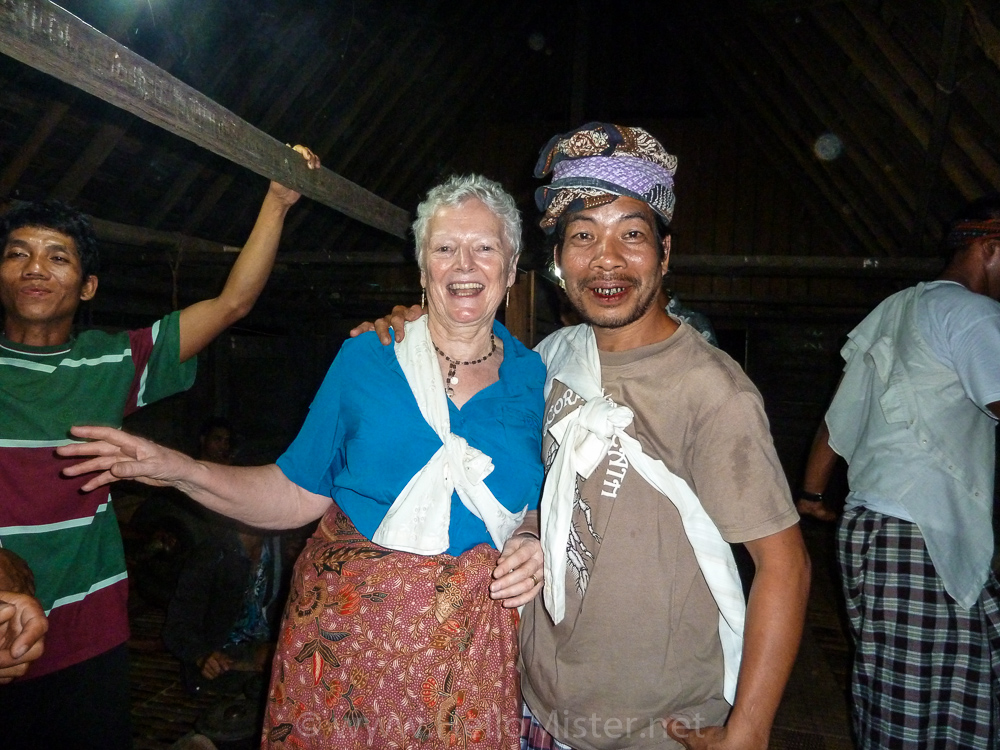 Dancing in the longhouse - Kundangan - see orangutan and meet dayak people in kalimantan