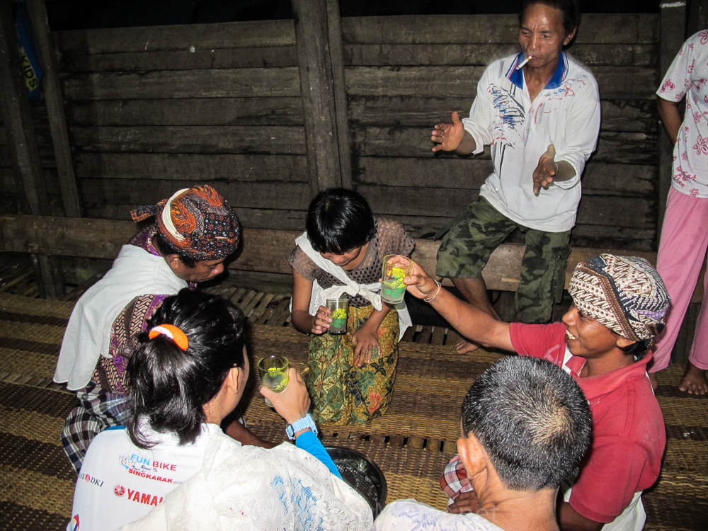 Toasting the hornbill - Kudangan - see orangutan and meet dayak people in kalimantan