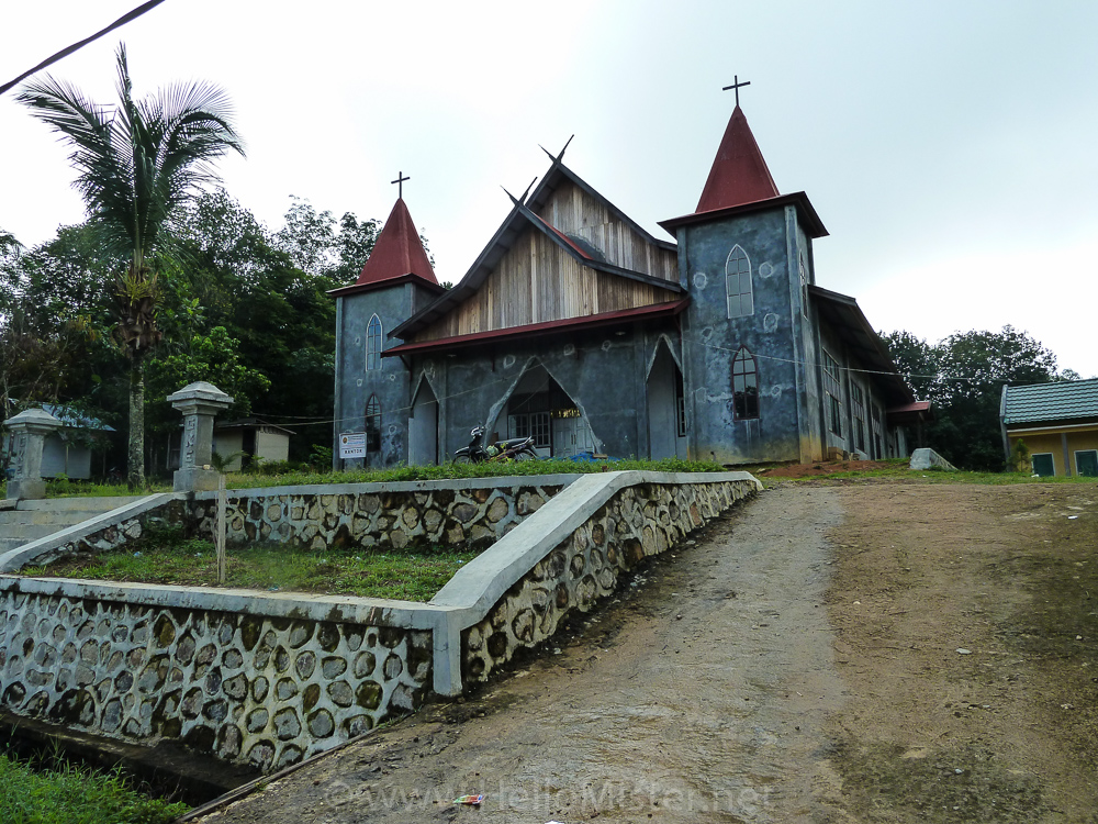 Church near Kudangan - see orangutan and meet dayak people in kalimantan