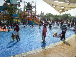 Kids slide area at Go Wet Waterpark Grand Wisata Bekasi