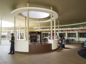 Restaurant area at Go Wet Waterpark Grand Wisata Bekasi