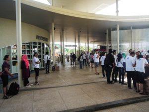 Crowds at 8:15 at Go Wet Waterpark Grand Wisata Bekasi