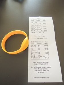 Confusing receipt at Go Wet Waterpark Grand Wisata Bekasi