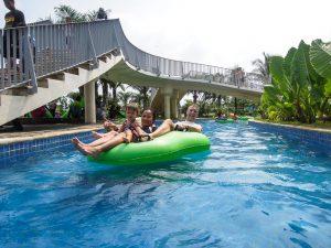 Floating downstream at Go Wet Waterpark Grand Wisata Bekasi