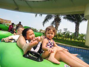 Three in a tube at Go Wet Waterpark Grand Wisata Bekasi