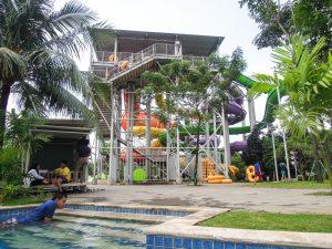 Slide tower at Go Wet Waterpark Grand Wisata Bekasi