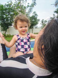 Happy baby lazy river at Go Wet Waterpark Grand Wisata Bekasi