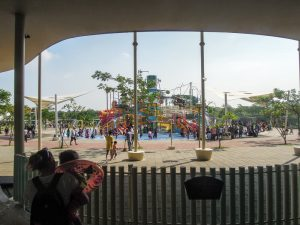 First view of the park at Go Wet Waterpark Grand Wisata Bekasi