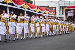 Indonesian cadet parade - Visit Jember Fashion Carnaval 2016