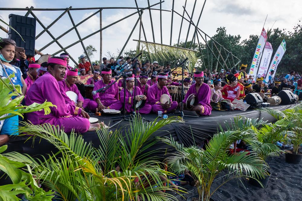 Percussion team - See Gandrung Sewu in Banyuwangi