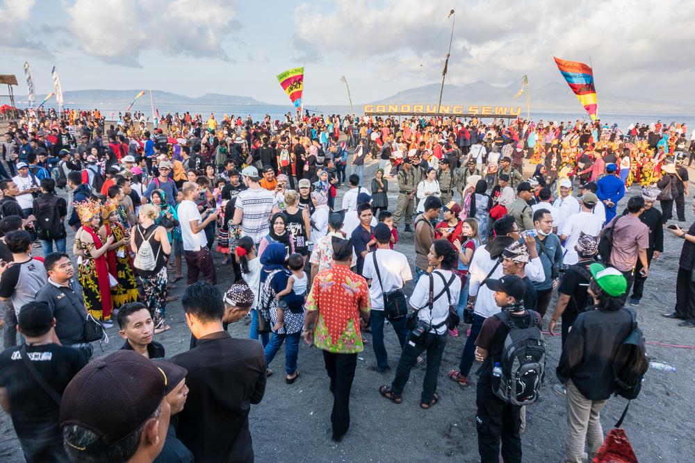 Dancers and spectators mingle - See Gandrung Sewu in Banyuwangi