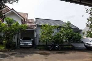 On the right, behind the trees - New baby, New house and Javanese House Moving Ceremony