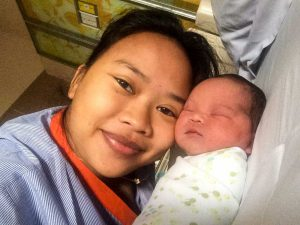 Mom and baby - New baby, New house and Javanese House Moving Ceremony