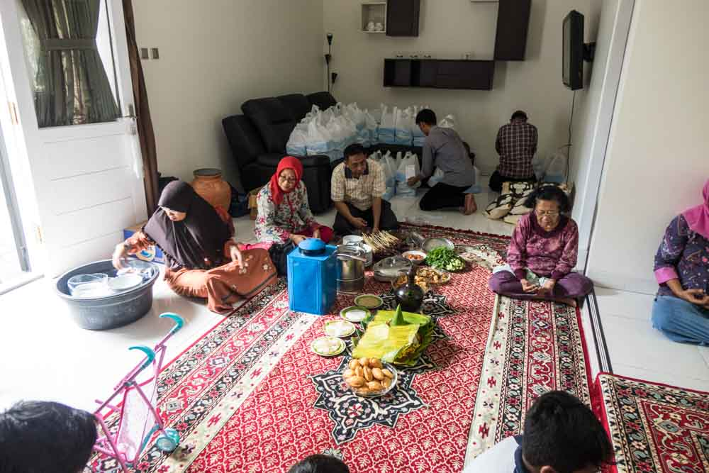 Food and prayers - New baby, New house and Javanese House Moving Ceremony