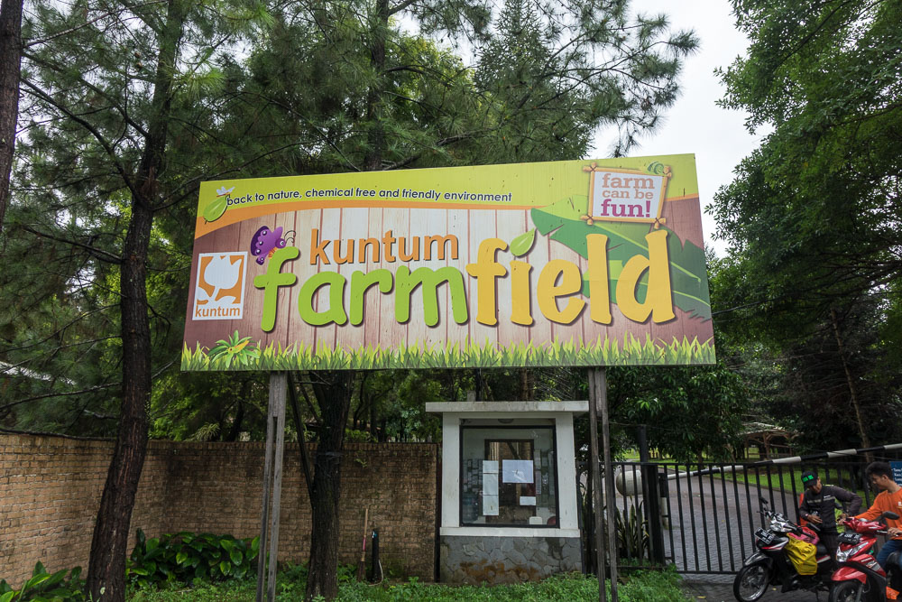 Kuntum Farmfield sign - Day trip to Kuntum Farmfield in Bogor