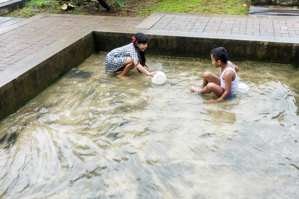 Catching fish - Day trip to Kuntum Farmfield in Bogor