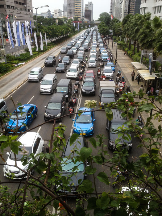 Traffic in central Jakarta - Ring of Fire An Indonesian Odyssey Book Review
