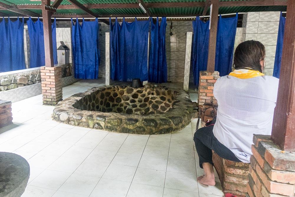 The hot springs pools - visit Gunung Pancar Hot Springs