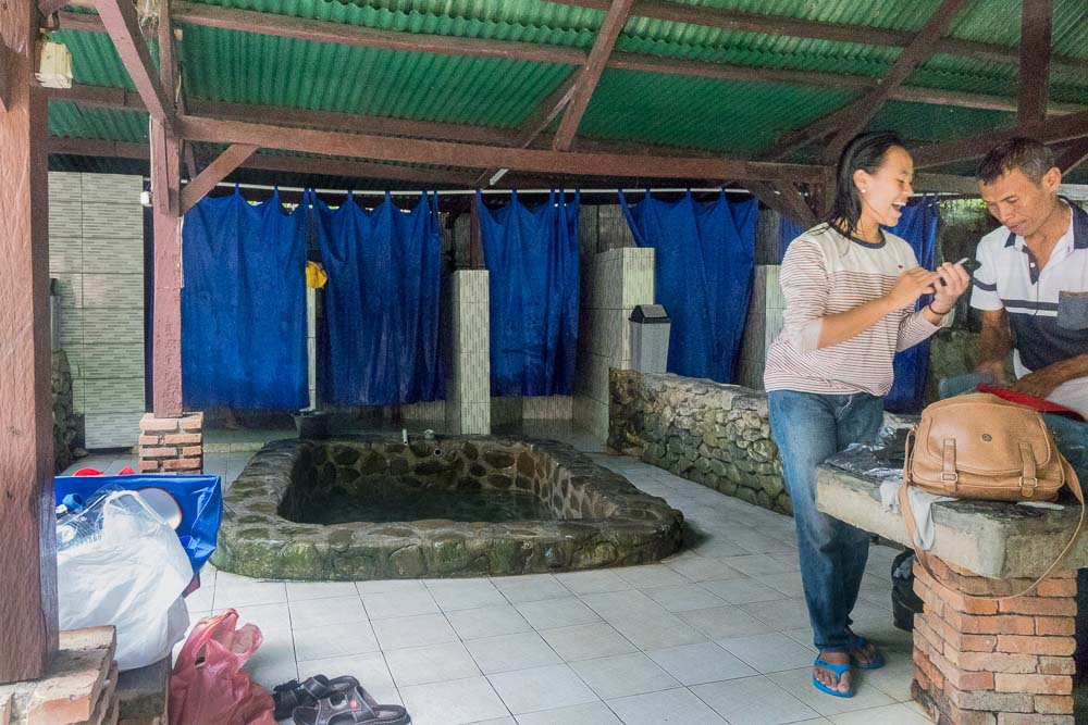 Family happy! - visit Gunung Pancar Hot Springs