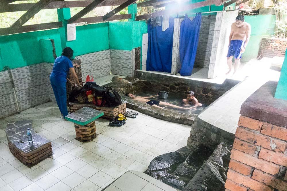 Having a wallow - visit Gunung Pancar Hot Springs