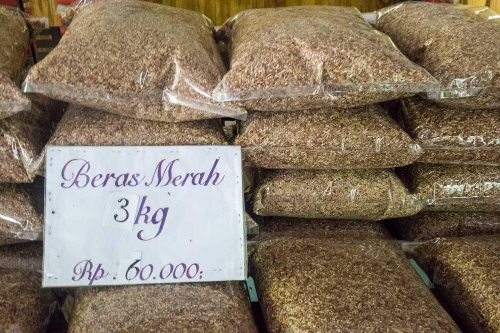 Healthy red rice - visit Gunung Pancar Hot Springs
