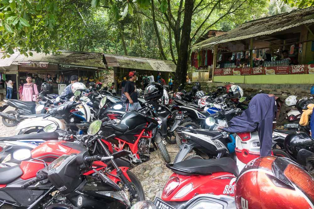 Car park - visit Gunung Pancar Hot Springs