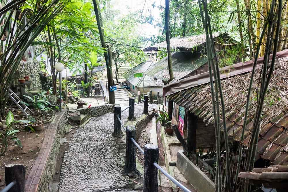 Entrance to the springs - visit Gunung Pancar Hot Springs