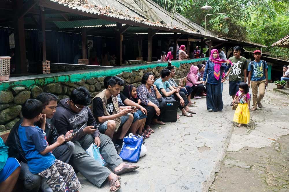Waiting for a bath - visit Gunung Pancar Hot Springs