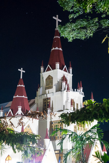 Larantuka Cathedral at night - Holy Week procession in Larantuka