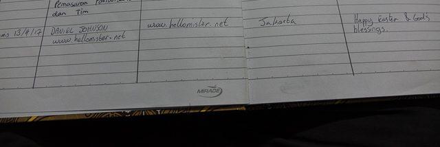 Sign the King's visitors book in Larantuka - Holy Week procession in Larantuka