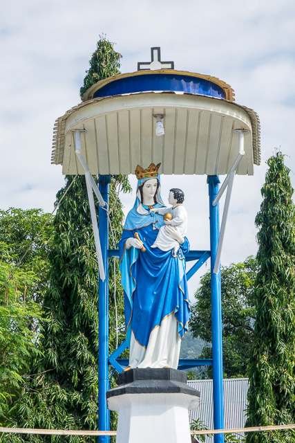 Mary and Baby Jesus - Holy Week procession in Larantuka