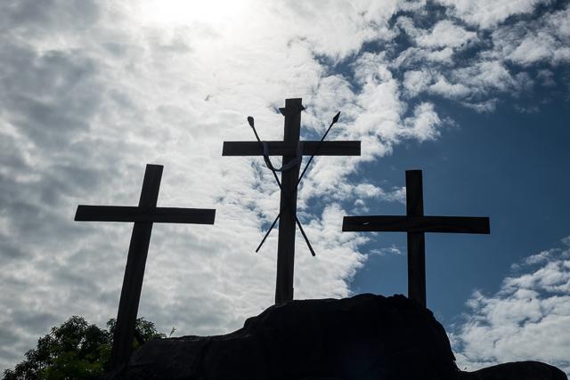 Three crosses in Larantuka - Holy Week procession in Larantuka