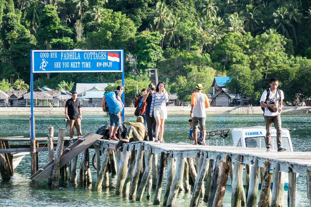 The bloggers alight... - Island Hopping and Scuba Diving in Togean