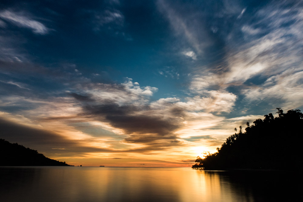 Sunset at Fadhilla - Island Hopping and Scuba Diving in Togean