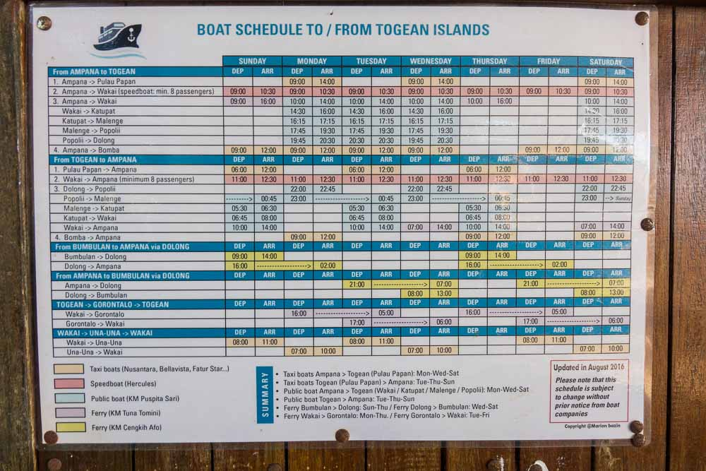 Togean Boat Schedule - Island Hopping and Scuba Diving in Togean