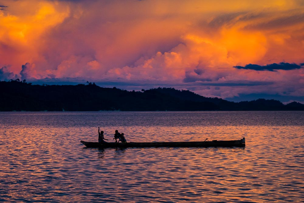 Fishing at sunset - Island Hopping and Scuba Diving in Togean